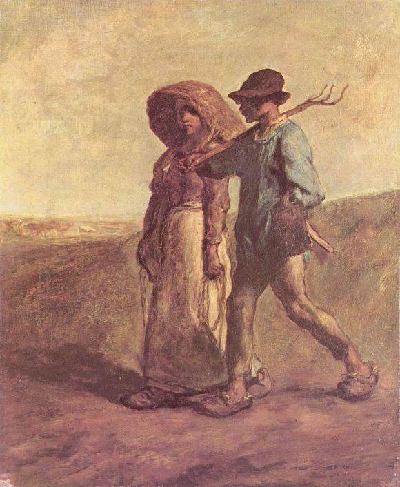 Le depart pour le Travail - Jean Francois Millet 1851 2