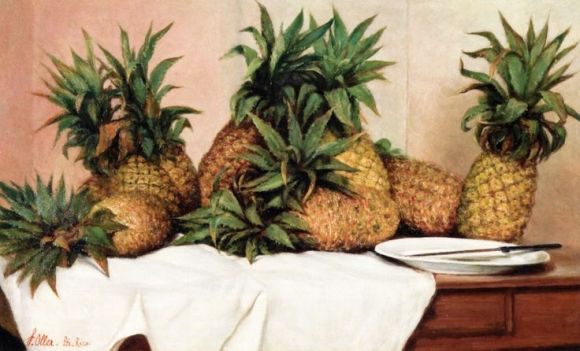 Francisco Oller - Pineapples ca 1912-1914