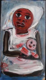 'Niña Hormiga' (2011) - Jean Girigori. Acrylic on Canvas