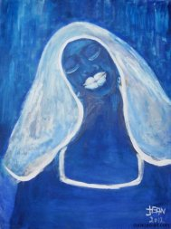 'Woman in Blue' - Jean Girigori.