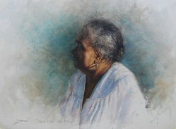 'Chile, I from Long Island' by Sheldon Saint. Watercolor on paper.