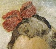 Detail 'The Counting Lesson' - red bow