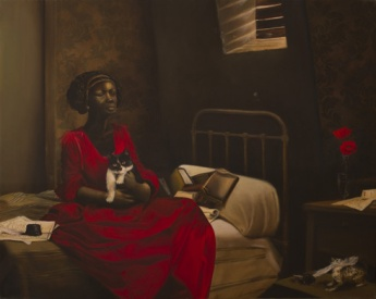 'Phillis' (2010) by Elizabeth Colomba. Oil on canvas.