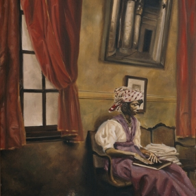 'the Book' (2003) by Eilizabeth Colomba. Oil on canvas.