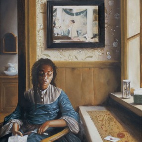 'The Missive' (2006) by Elizabeth Colomba. Oil on canvas.