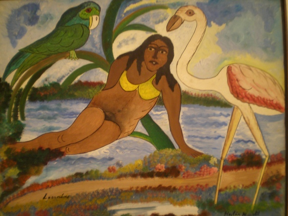 Hector Hyppolite - The Siren  - 1946, American Folk art, Milwaukee Museum of Art, Milwaukee, Wisconsin