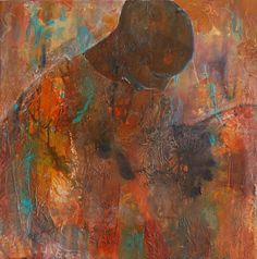 'I hear Music' mixed media by Heidi Berger.
