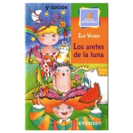 Bookcover 'Los Aretes de la Luna' by Zoé Valdés. Illustrated by Ramón Unzueta