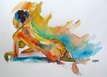 'Not Today' by Stacey Byer. Watercolor